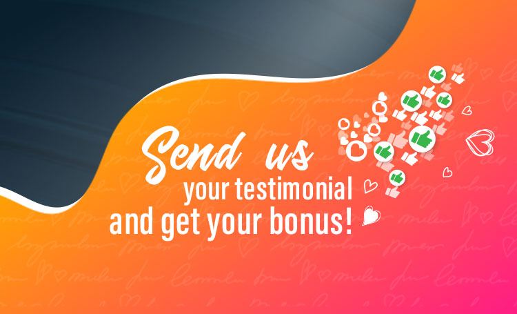 New promotions! Send us your love this May